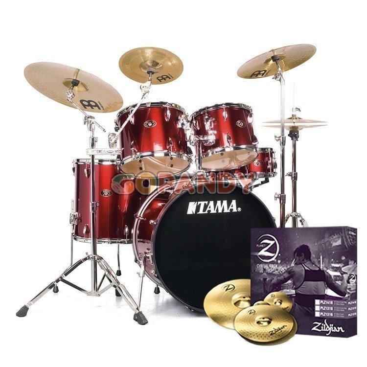 tama-imperialstar-candy-apple-mist-5-piece-drum-set-2