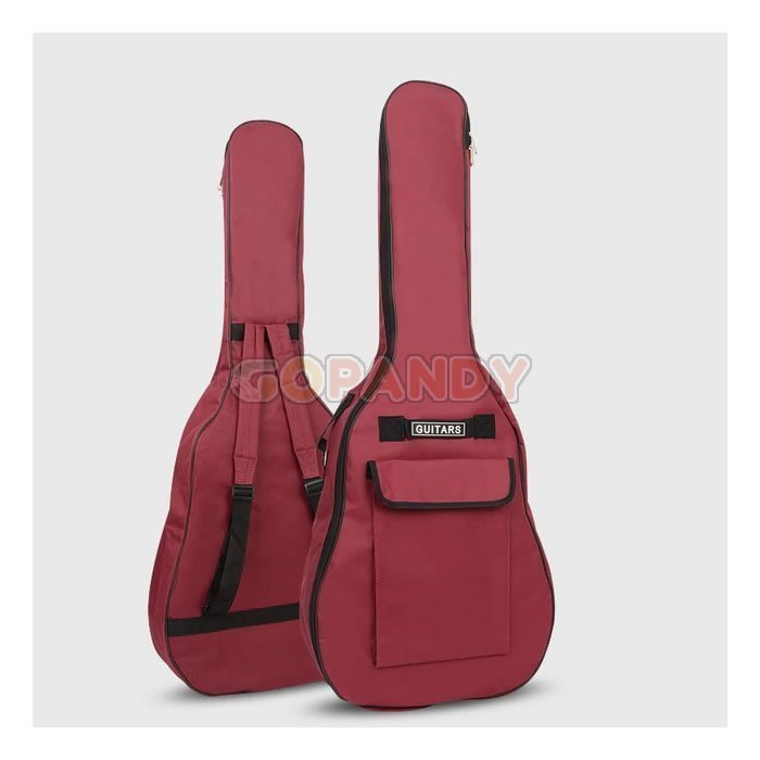 acoustic guitar bag – wine red 01