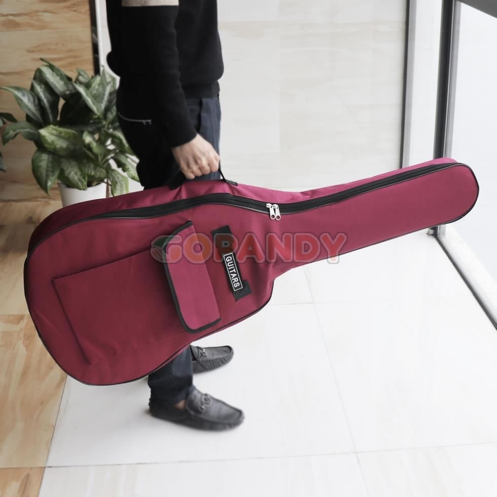 acoustic guitar bag – wine red 02