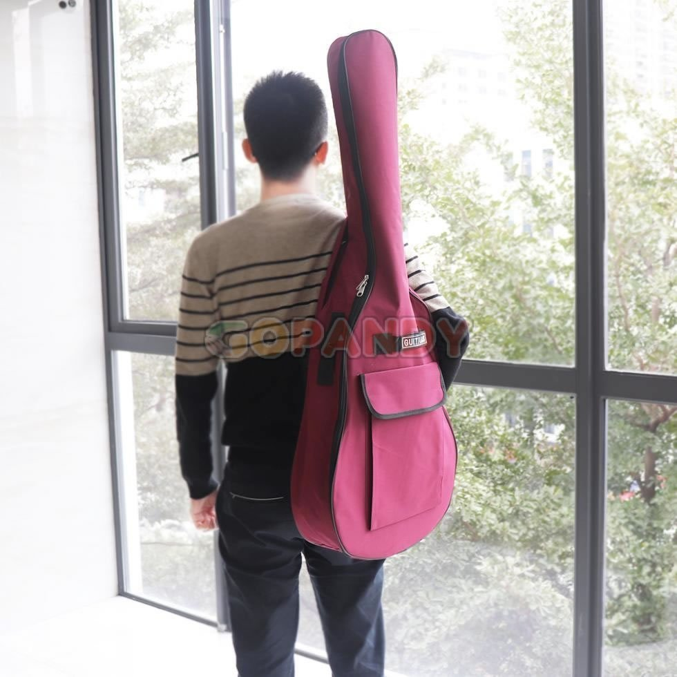 acoustic guitar bag – wine red 03