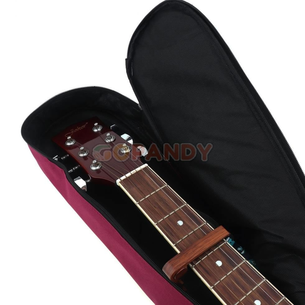 acoustic guitar bag – wine red 04